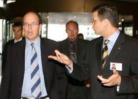 Alberto Grimaldi, príncipe de Mónaco (de izquierda), foto: CTK