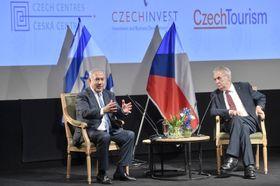 Benjamin Netanjahu und Miloš Zeman (Foto: ČTK / Vít Šimánek)