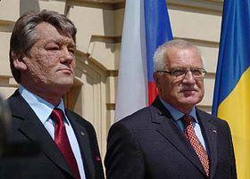 Le président Vaclav Klaus avec son homogue ukrainien Viktor Youtchetkcho, photo: CTK