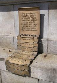 Le monument aux victimes du 21 août 1968 à Liberec
