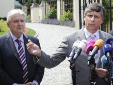 Jiří Rusnok, Jan Fischer, foto: ČTK