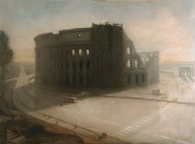 Anna Keen - 'Colosseum and bus, Rome'