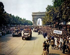La libération de Paris, photo: Jack Downey, U.S. Office of War Information / Library of Congress