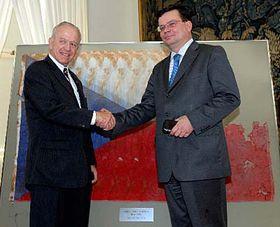 William Cabaniss and Alexandr Vondra, photo: CTK