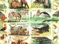 Aršík známek věnovaných českým zoo, foto: archiv České pošty