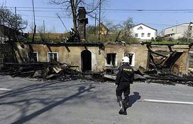 The house in Vítkov after the attack, photo: CTK