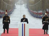 Emmanuel Macron pendant les celebrations du centenaire de l'armistice du 11 novembre aux Champs Elysées, photo: Ludovic Marin/Pool Photo via AP/ČTK