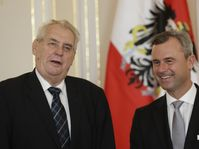 Miloš Zeman et Norbert Hofer, photo: ČTK