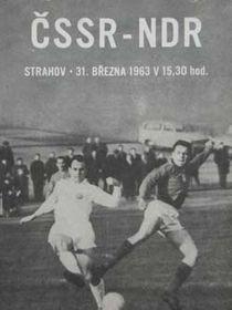 Fußballspiel zwischen der ČSSR und der DDR