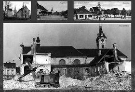 Ausstellung über zerstörte Sakraldenkmäler Nordböhmens (Foto: Archiv der Nationalbibliothek Prag)