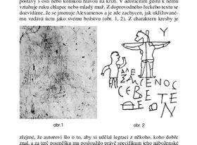 Палатинское распятие, Фото: Marie Pardyová, K interpretaci tzv. palatinského grafita, Religio, XI/2003/1/Rozhledy