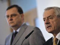 PM Petr Nečas, health minister Leoš Heger (right), photo: CTK