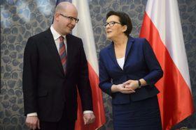 Ewa Kopacz  y Bohuslav Sobotka, foto: ČTK