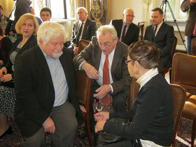 Petr Pithart, Vilém Prečan, Jiřina Šiklová, photo: Dominik Jůn