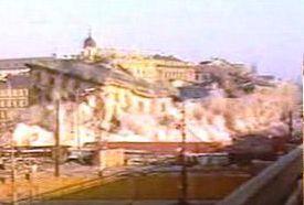 Am 16. März 1985 wurde das Gebäude des Bahnhofs gesprengt (Foto: ČT24)