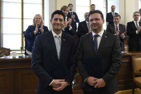Paul Ryan et Radek Vondráček, photo: ČTK