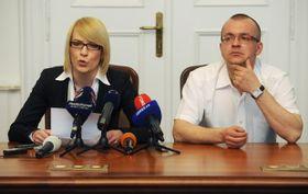 Kristýna Kočí y Jaroslav Škárka, foto: ČTK