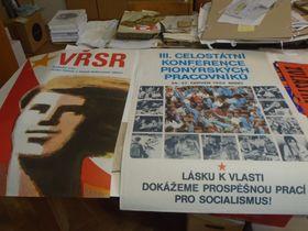 Afiches de la época socialista, foto: Ana Briceño