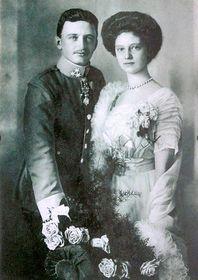 El archiduque Carlos y su esposa Zita (1911)