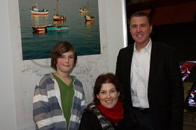 Giorgio Bikkal con su familia