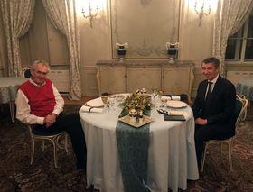 Miloš Zeman y Andrej Babiš en Lány, foto: ČTK