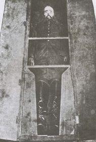 Ataúd con el cadáver de Maximiliano de Habsburgo