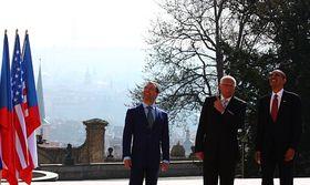 Dimitri Medvedev, Václav Klaus, Barack Obama