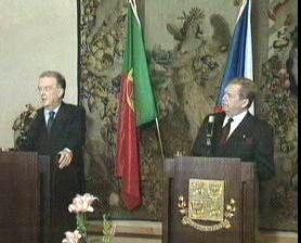 Jorge Sampaio y Václav Havel