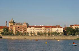 El malecón del río Vltava