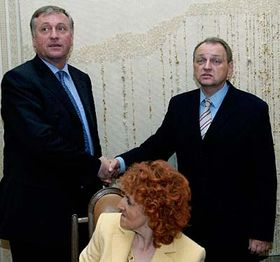 Mirek Topolánek (vlevo), Jan Kasal aVlasta Parkanová, foto: ČTK