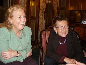 Irena Grudzinska-Gross and Jirina Siklova, photo: Linda Mastalir