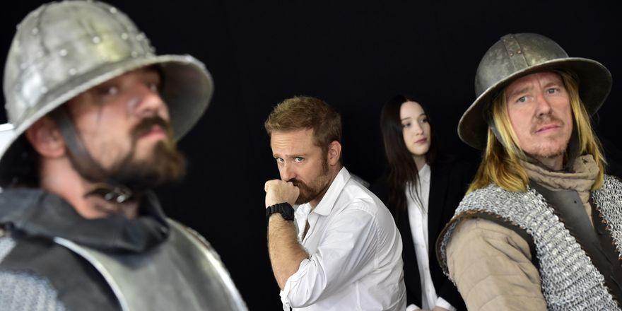 Americký herec Ben Foster (druhý zleva) a australská herečka Sophie Loweová, foto: ČTK/Vondrouš Roman