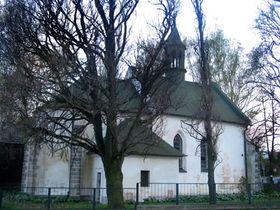 La iglesia en la aldea Nelahozeves