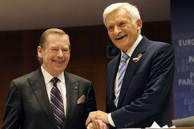 Václav Havel et Jerzy Buzek, photo: CTK