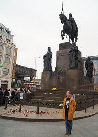 Анна Кочергина на Вацлавской площади, Фото: Милош Турек, Чешское радио - Радио Прага