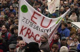 Протесты перед министерством сельского хозяйства (Фото: ЧТК)