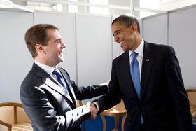Дмитрий Медведев и Барак Обама, фото: Archiv Bílého domu