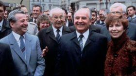 Густав Гусак, Михаил Горбачев, Раиса Горбачева в Праге в 1987 г., фото: ČT24