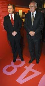 Václav Klaus (right), photo: CTK