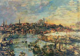 Oskar Kokoschka 'View of Constantinople', 1929, from the Oskar Federer collection currently in the Ostrava Gallery of Fine Art