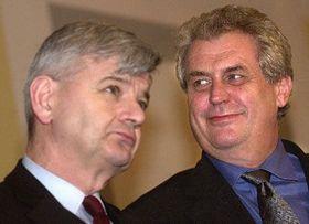 Joschka Fischer y Milos Zeman, foto: CTK