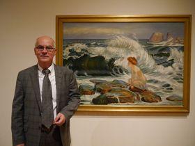 Philippe Le Stum devant 'La vague' de František Kupka, photo: Magdalena Hrozínková