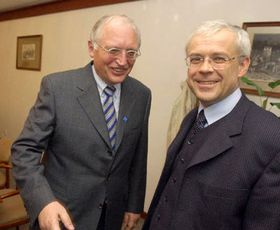 Guenter Verheugen and Vladimir Spidla, photo: CTK