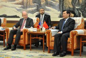 Богуслав Соботка и премьер-министр Китайской Республики Линь Цюань, Фото: ЧТК