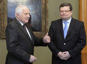 Václav Klaus und Alexandr Vondra (Foto: ČTK)
