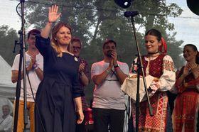Konzert für Zuzana Čaputová auf der Kampa-Insel (Foto: ČTK / Vít Šimánek)