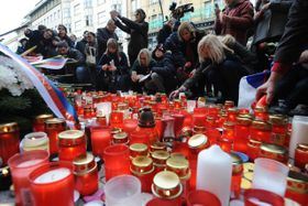 Las manifestaciones del 17 de noviembre en Praga, la calle Národní, foto: ČTK