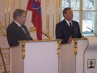 Václav Havel y Rudolf Schuster en Bratislava, Foto: Roman Casado
