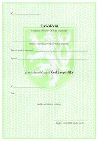 Tschechischer Staatsangehörigkeitsausweis