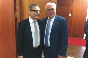 Lubomír Zaorálek und Frank-Walter Steinmeier (Foto: Archiv des tschechischen Außenministeriums)